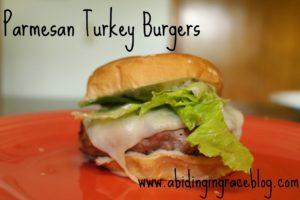 Parmesan Turkey Burgers