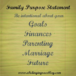 Family Purpose Statement