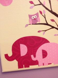 one little canvas elephant