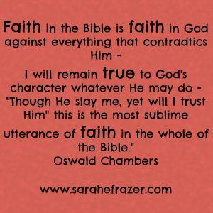 Faith in God - OC