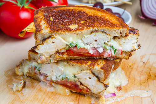 Chicken Gyro Grilled Cheese (aka The Gyro Melt) 500 7392