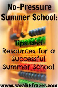 no pressure summer school