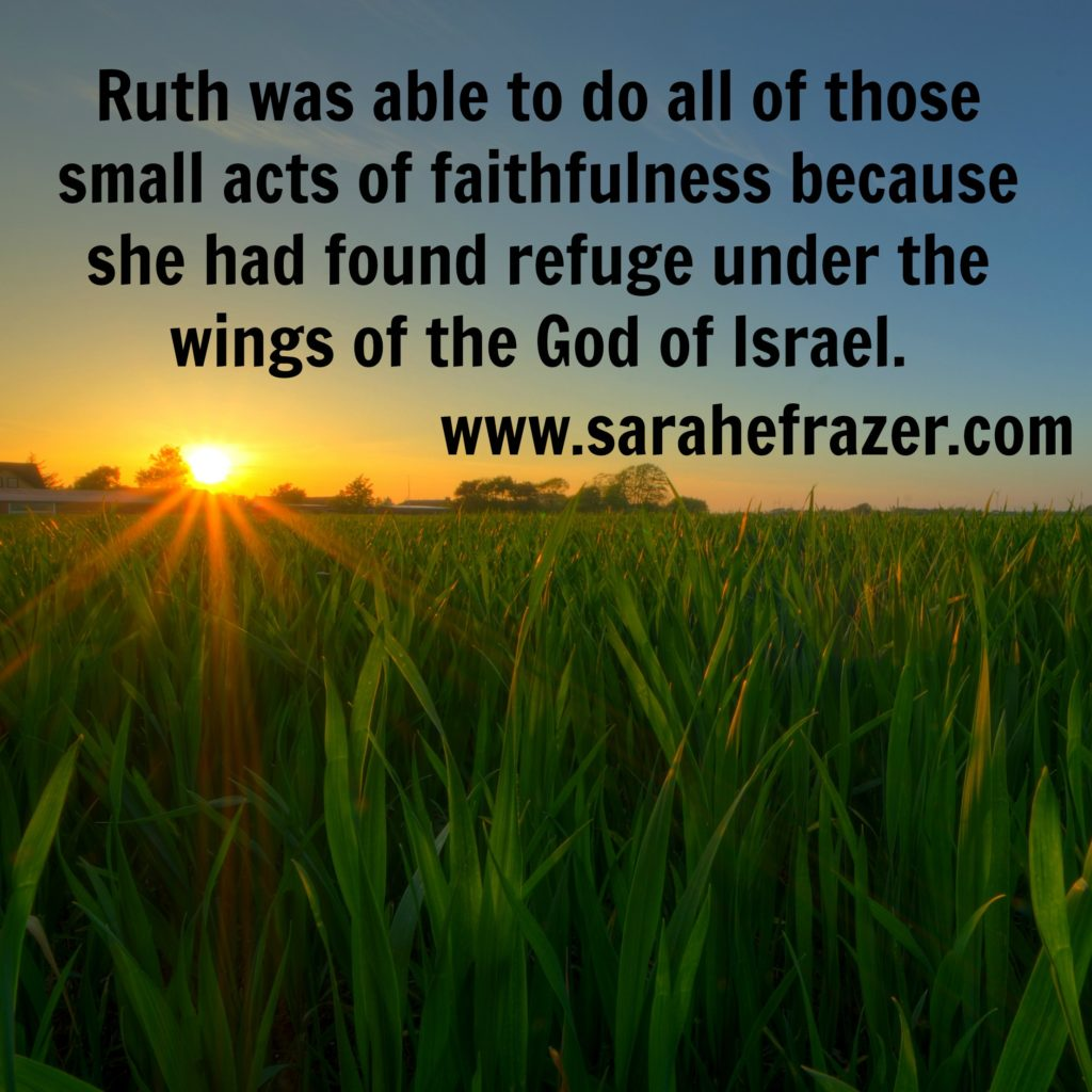 Small acts of faithfulness