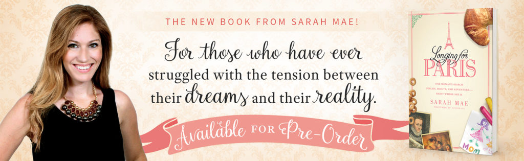 longing-for-paris-book with sarah mae