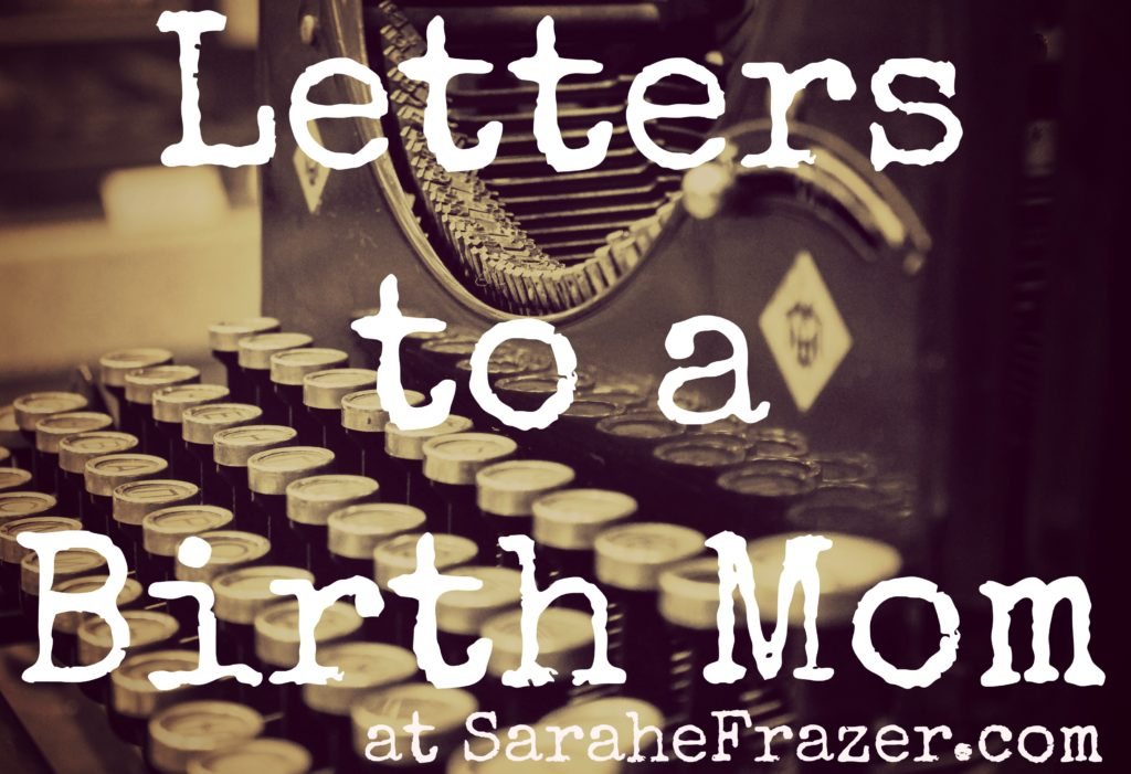 letters to a birth mom