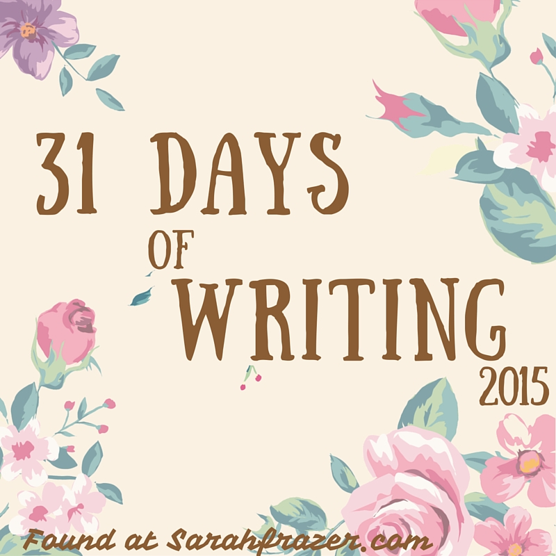31 Days of Writing