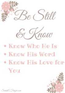 Be Still and Know – Tuesday Talk