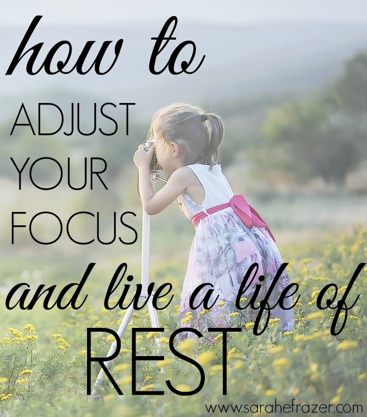 How to Adjust Your Focus