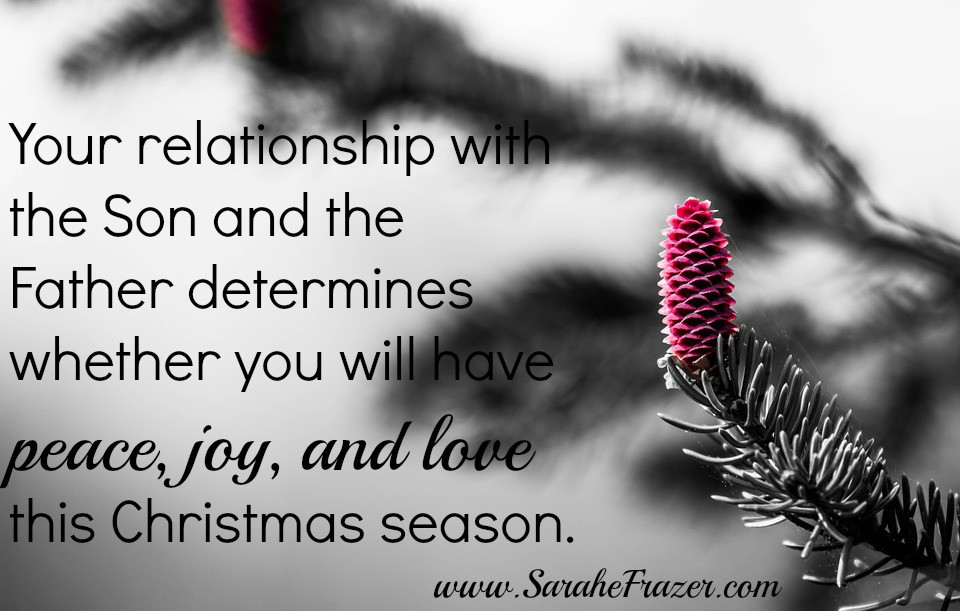 your relationship with the Son