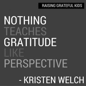Perspective Teaches Gratitude