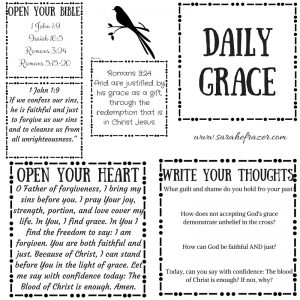 Daily Grace Printable and Tuesday Talk