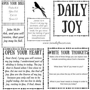 Daily Joy Printable