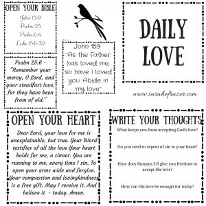 Daily Love Printable and Tuesday Talk