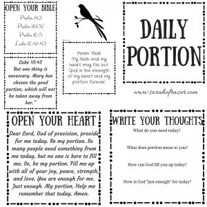 Daily Portion Printable