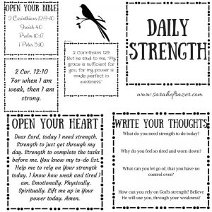Daily Strength Printable