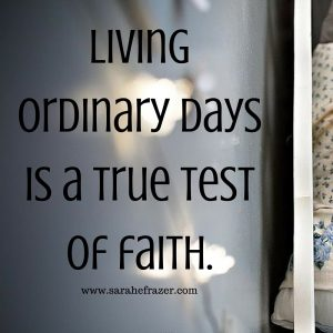 Living ordinary days