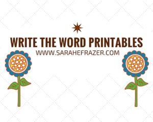 Write the Word Issue 1  – #TuesTalk