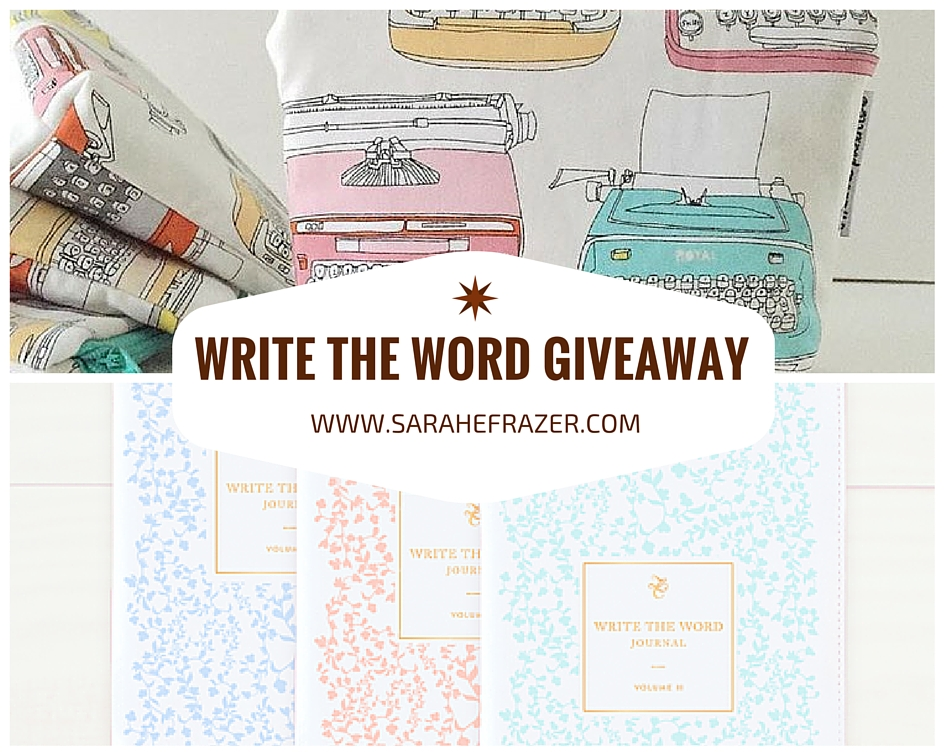 Write the Word Giveaway