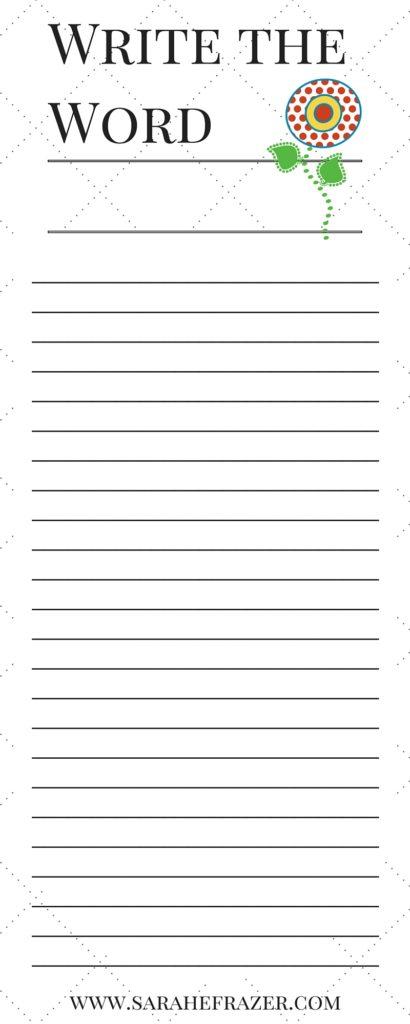 Write the Word Sample 5