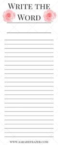 Write the Word Sample for Newsletter