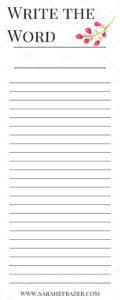 Write the Word Sample for Newsletter2