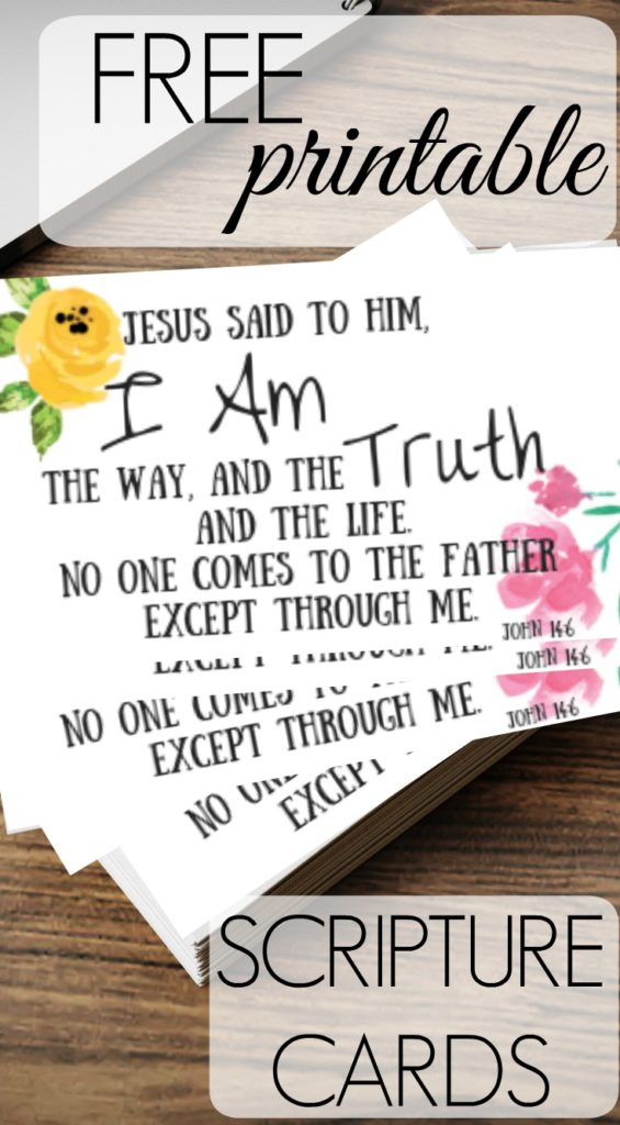 photograph about Free Printable Scripture Cards known as No cost Scripture Playing cards! - Sarah E. Frazer