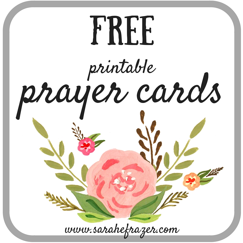 photograph about Prayer Printable named Printable Prayer Playing cards Trouble 4 - Sarah E. Frazer