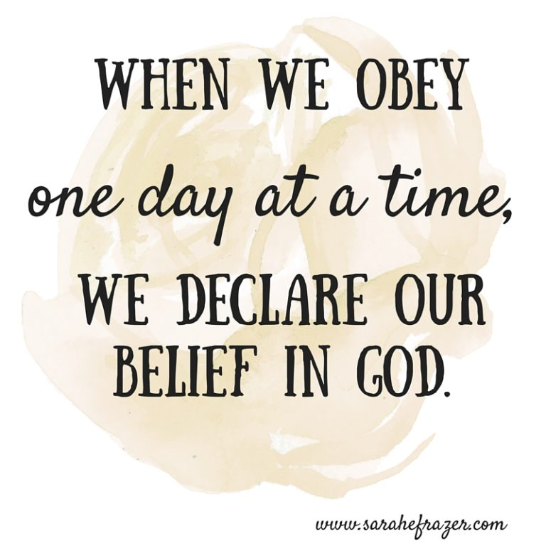 what is obedience and when does man obey