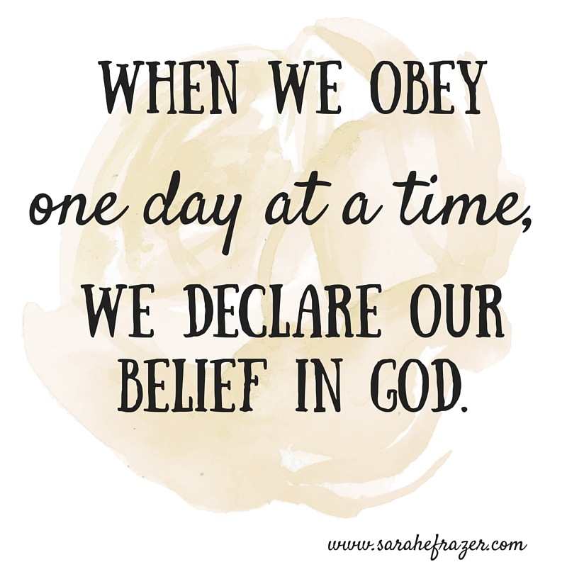when we obey
