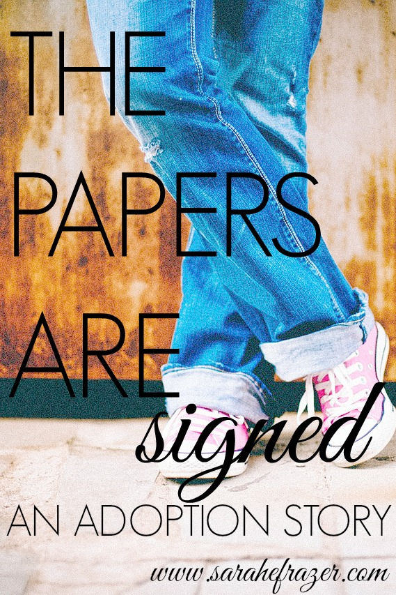 THE PAPERS ARE SIGEND