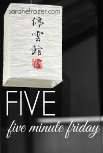 Five Minute Friday – Five