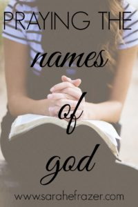 Praying God's Names (Free Printable)