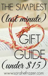 The Simplest Last Minute Gift Guide (Under $15)