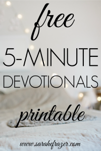 Free 5-Minute Devotionals