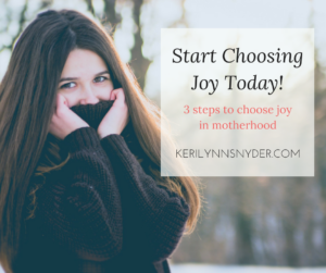 3 Steps to Choose Joy