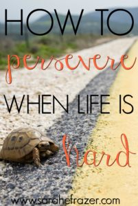 How to Persevere When Life is Hard