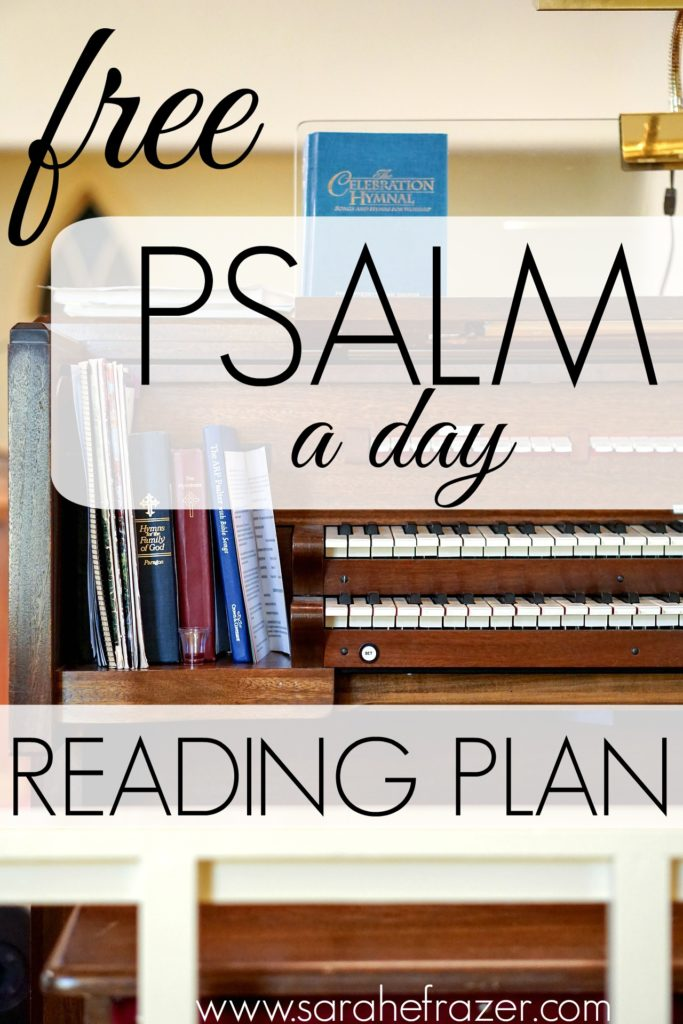 41 Days of Psalms - Reading Plan - FREE! - Sarah E. Frazer