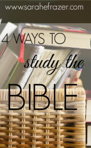 Four Ways to Study the Bible