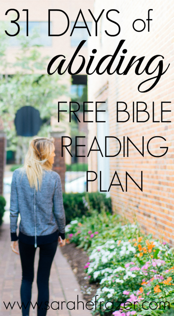 Free Bible Reading Plan | Abiding in Christ | John 15:5