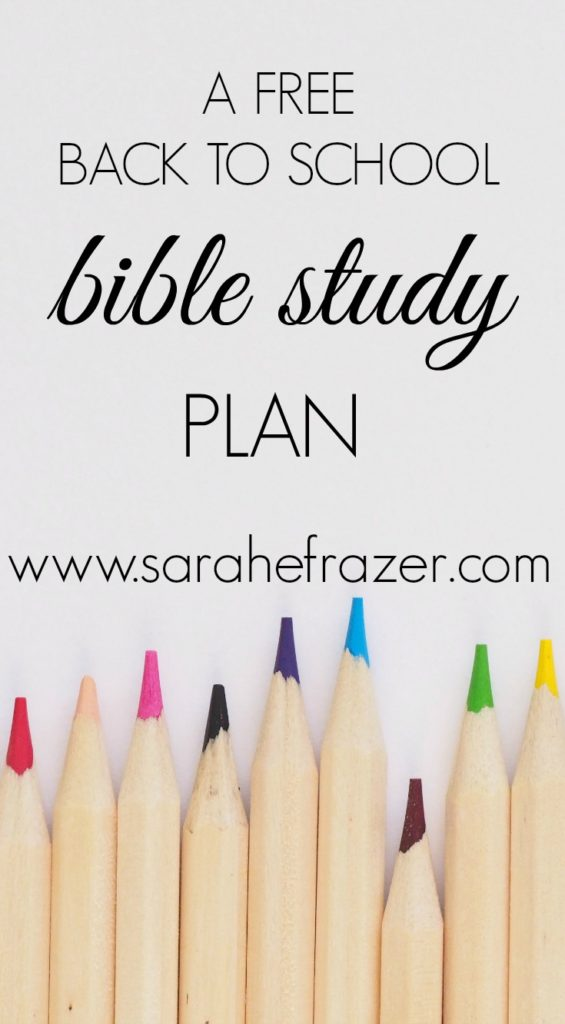 A Back to School Plan for Bible Study