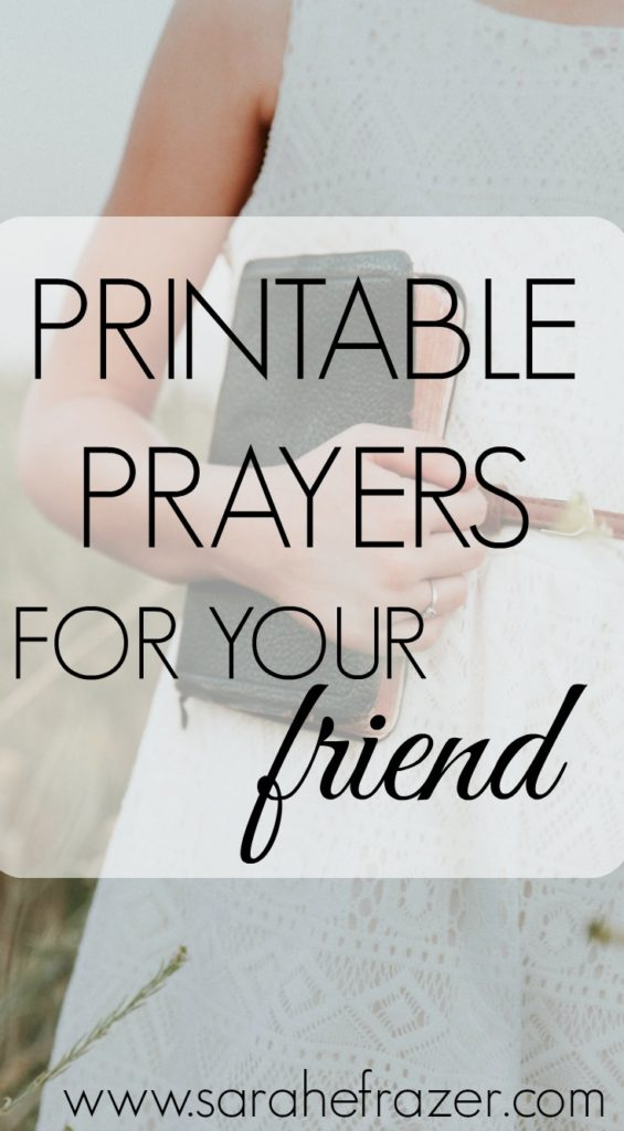 graphic relating to Printable Prayers named Printable Prayers for Your Pal - Sarah E. Frazer