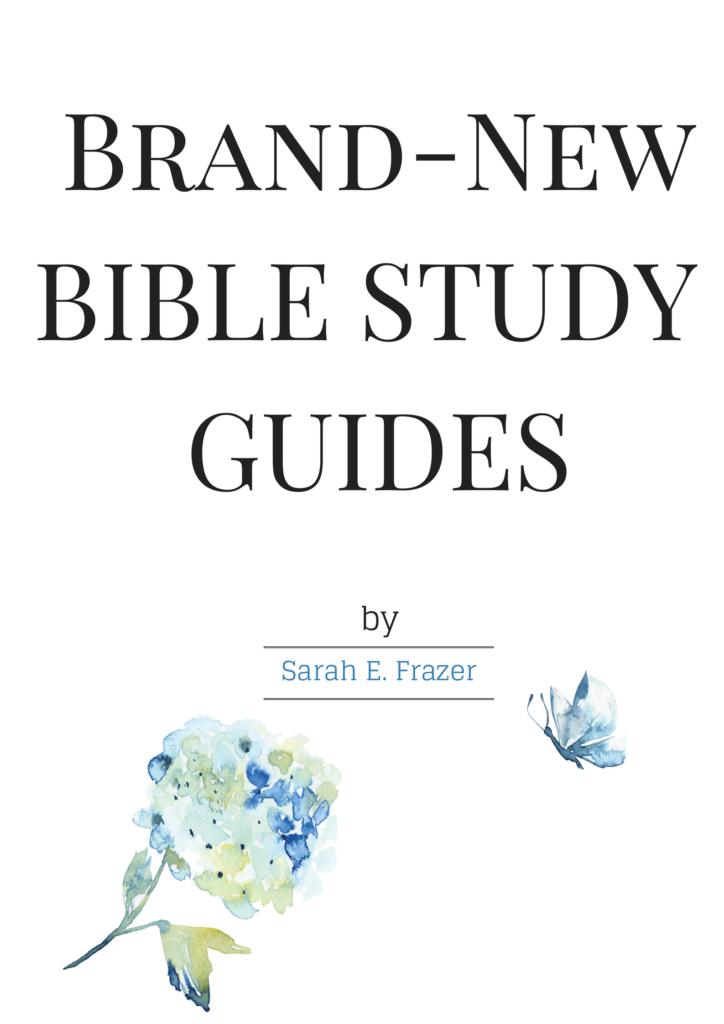 New Bible Study Worksheets - Sarah E  Frazer