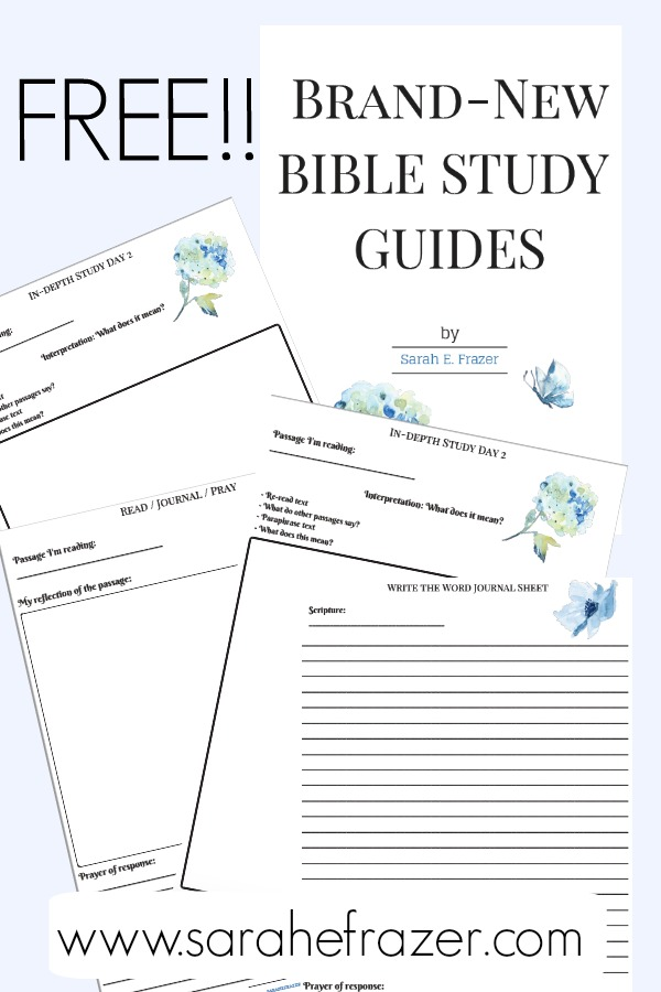 picture relating to Printable Bible Study Guides known as Free of charge Bible Exploration Publications - Sarah E. Frazer