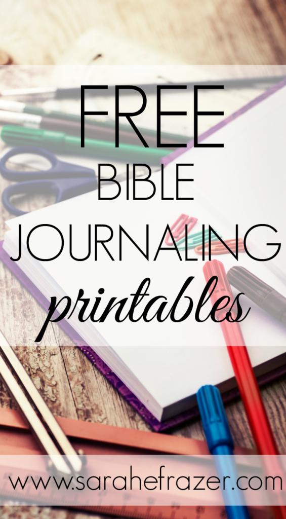 Bible Journaling Printables - Sarah E  Frazer