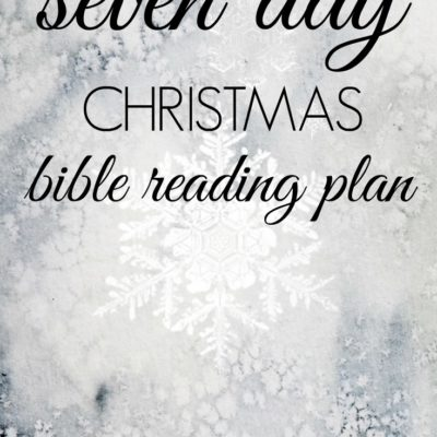 A 7 Day Christmas Reading Plan