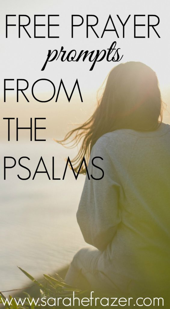 Free Prayer Prompts from Psalms