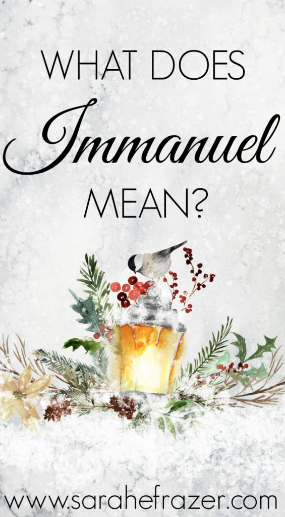 What Does Immanuel Mean?