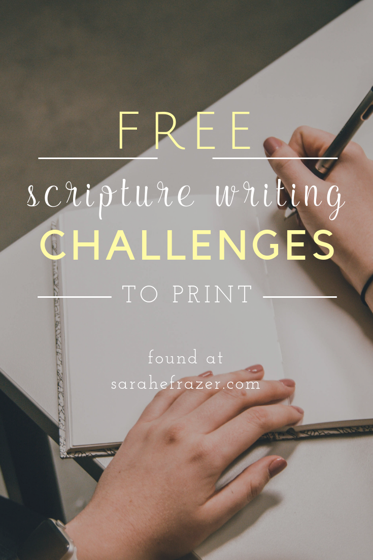 Scripture Writing Challenge: Loving Others