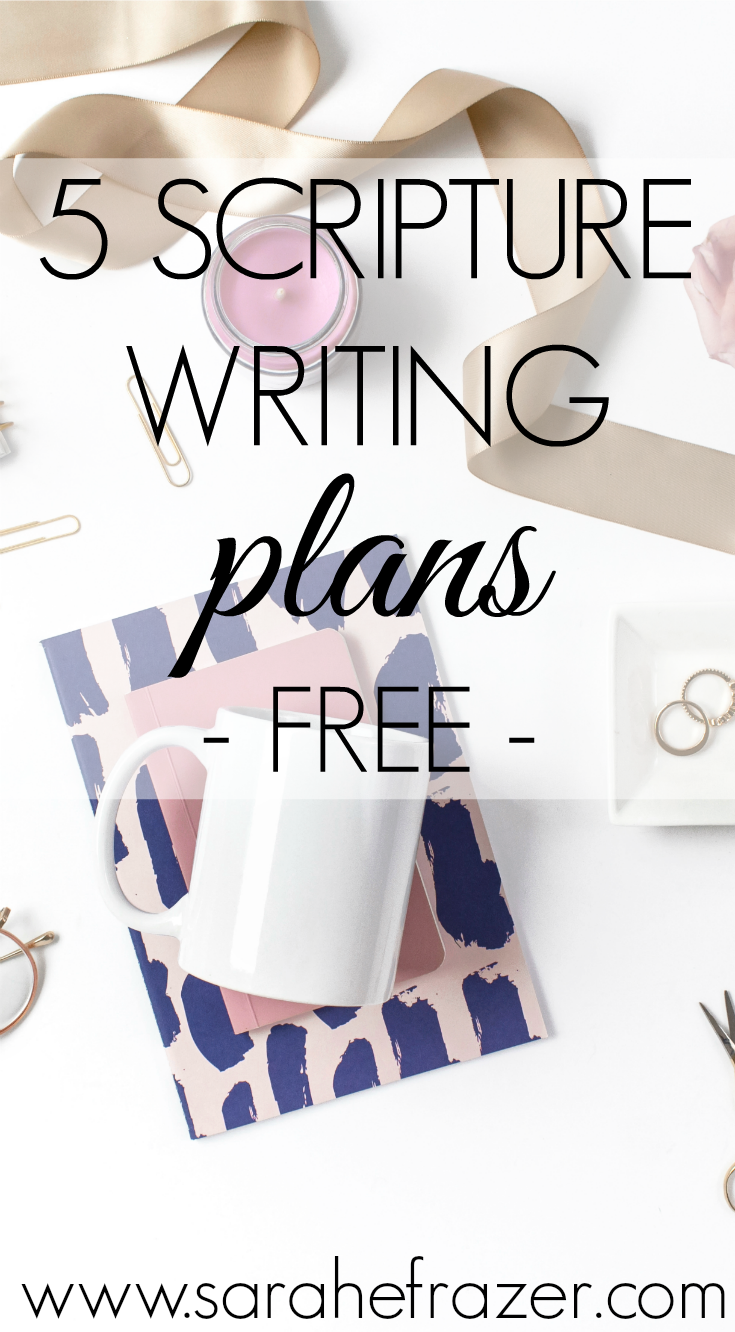 Five Free Scripture Writing Plans