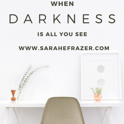 When Darkness is All You See